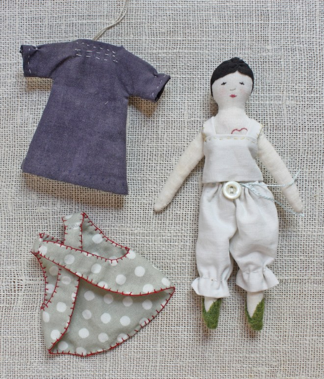 ann wood : tiny rag doll