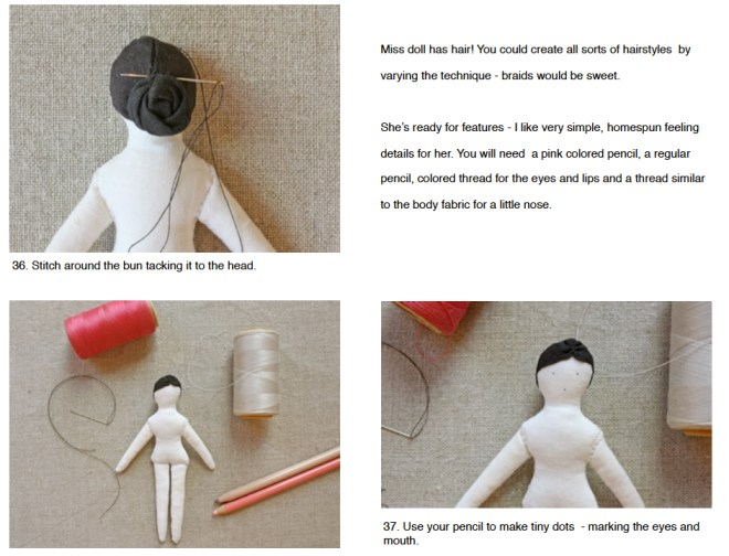 hair- tiny doll pattern
