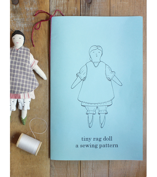 tiny rag doll print pattern