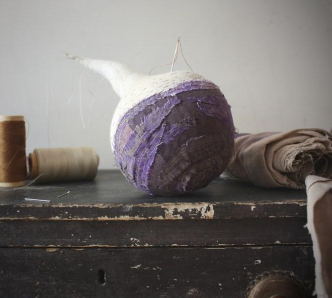 hand stitched stitched rutabaga