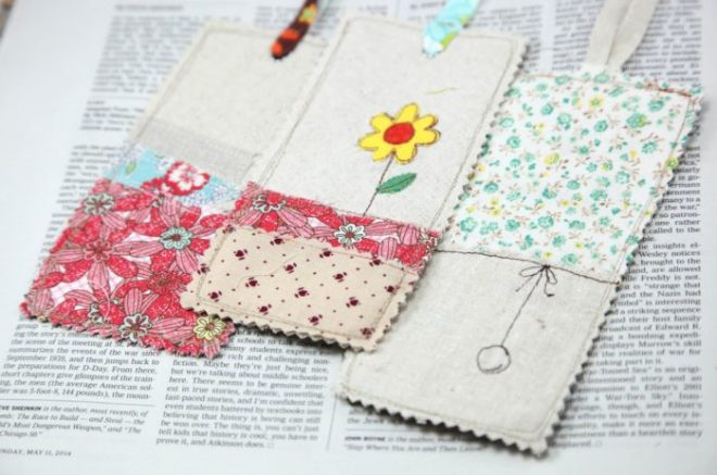 minki kim linen bookmarks