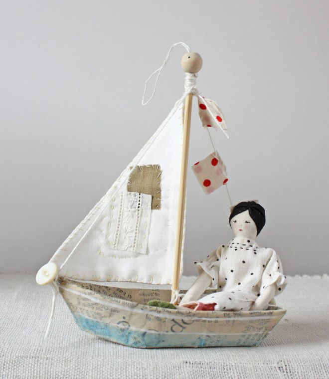ann wood : boat ornament