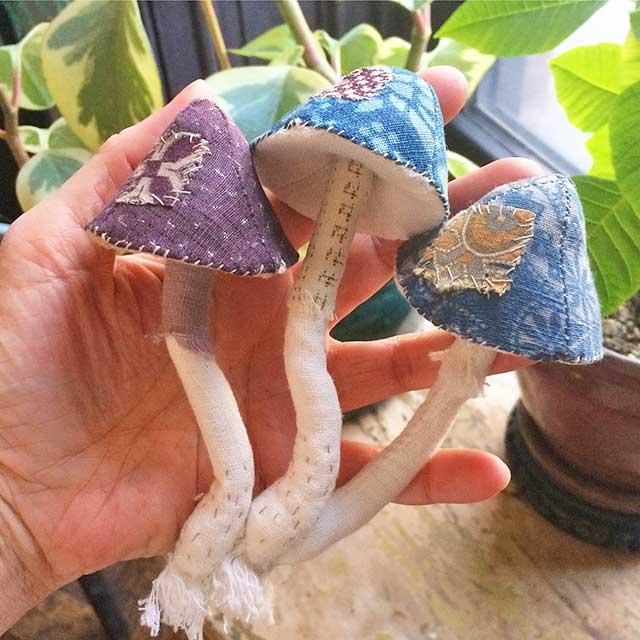handmade toadstools