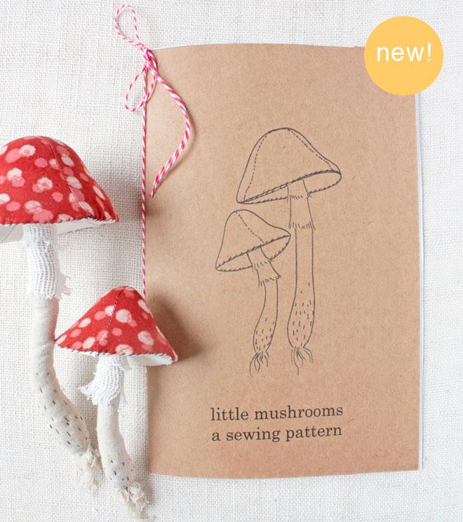 mushroom print sewing pattern