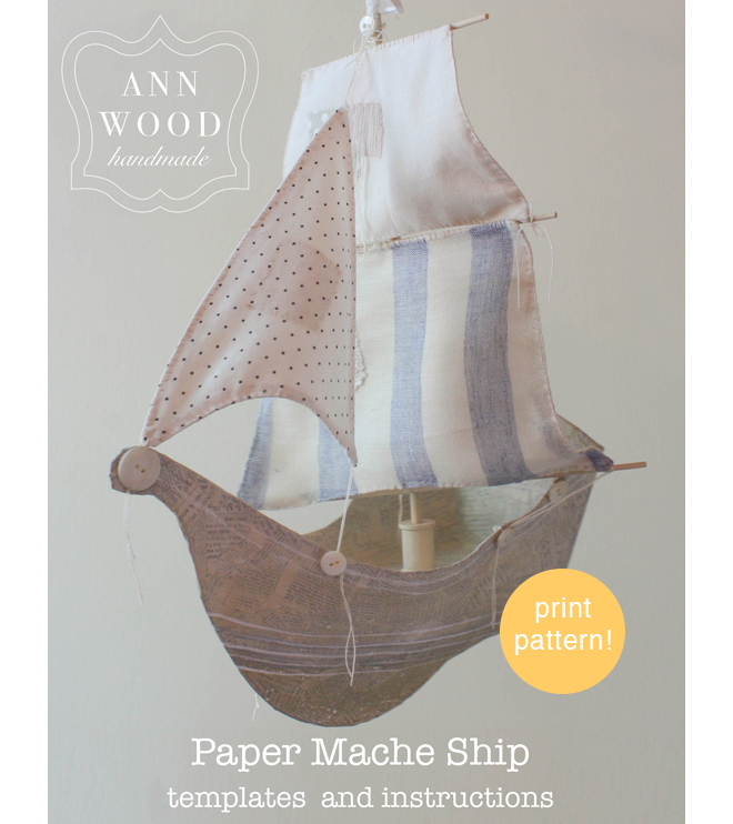 pattern to create a paper mache ship
