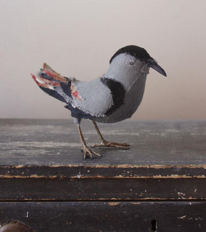handstitched bird