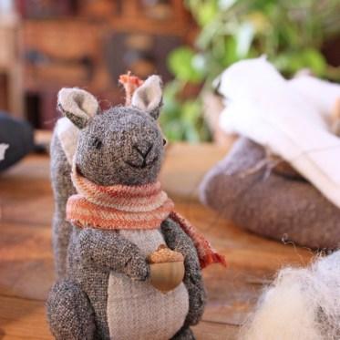little hand stitched squirrel