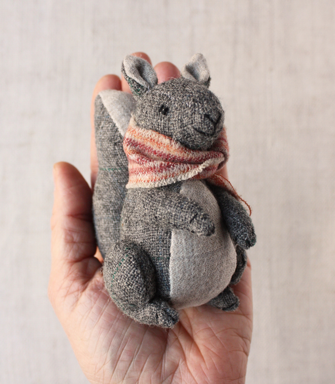 hand stitched squirrel