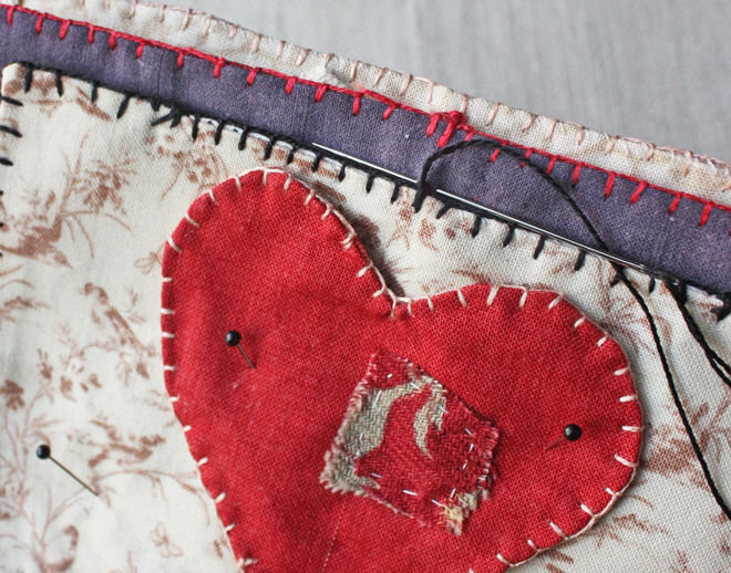 heart needle book assembly