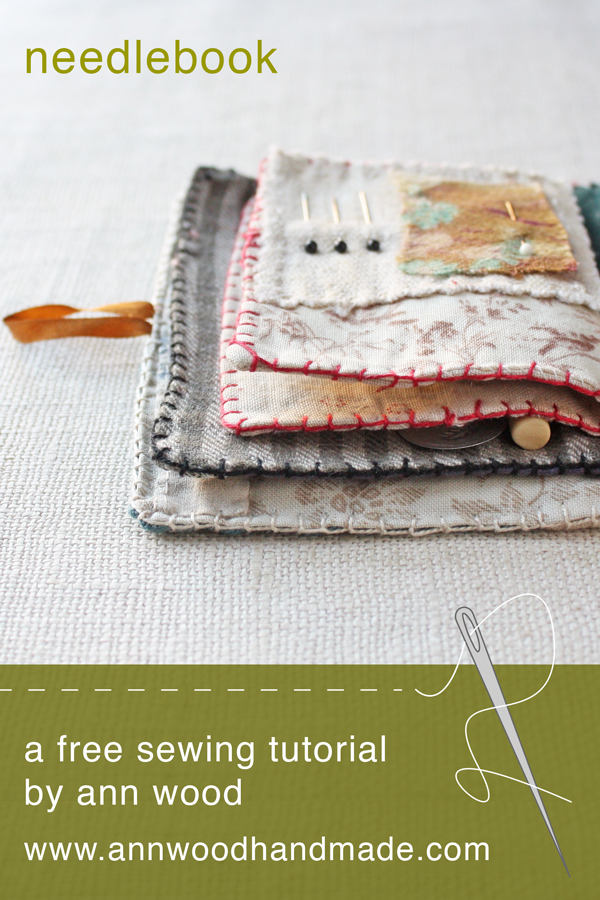 sewing France scissors Small Linen Needle Book