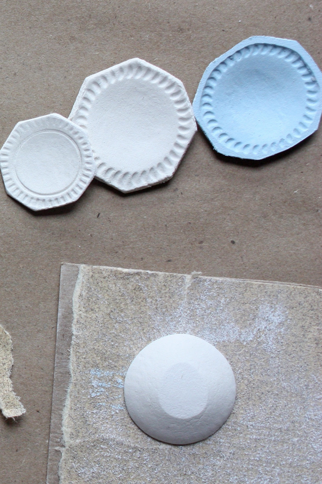 sanding miniature dishes