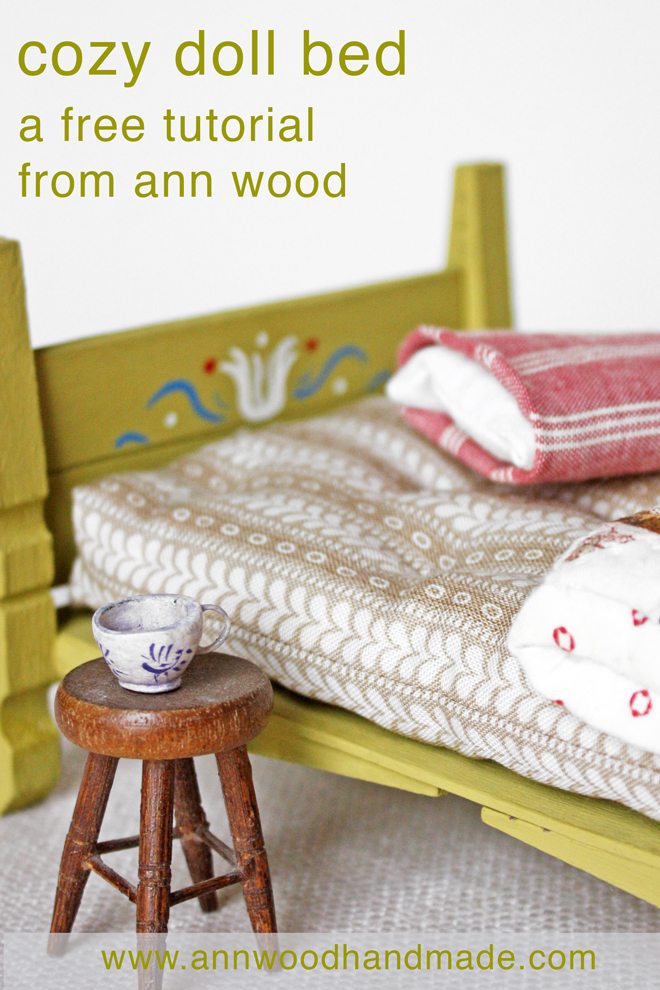 doll bed: free tutorial