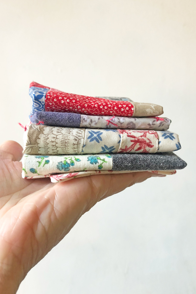 miniature quilts made from scraps