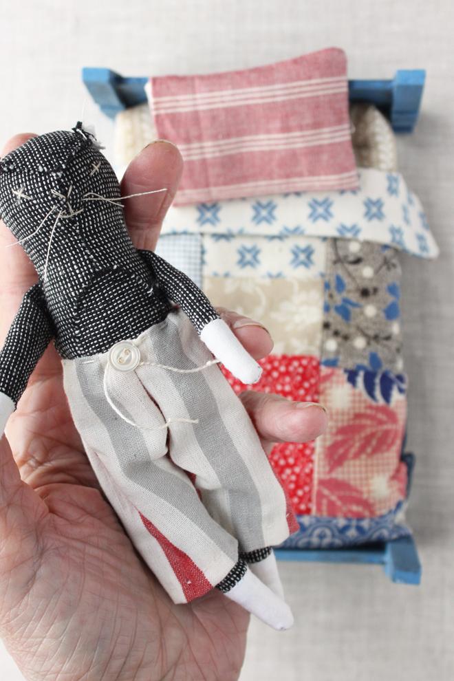mr. socks doll in pajamas