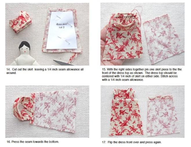 easy doll dress pattern