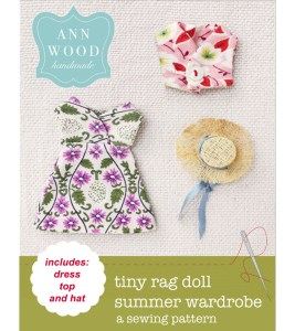 easy doll dress, top and hat pattern