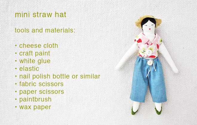 free min straw hat diy