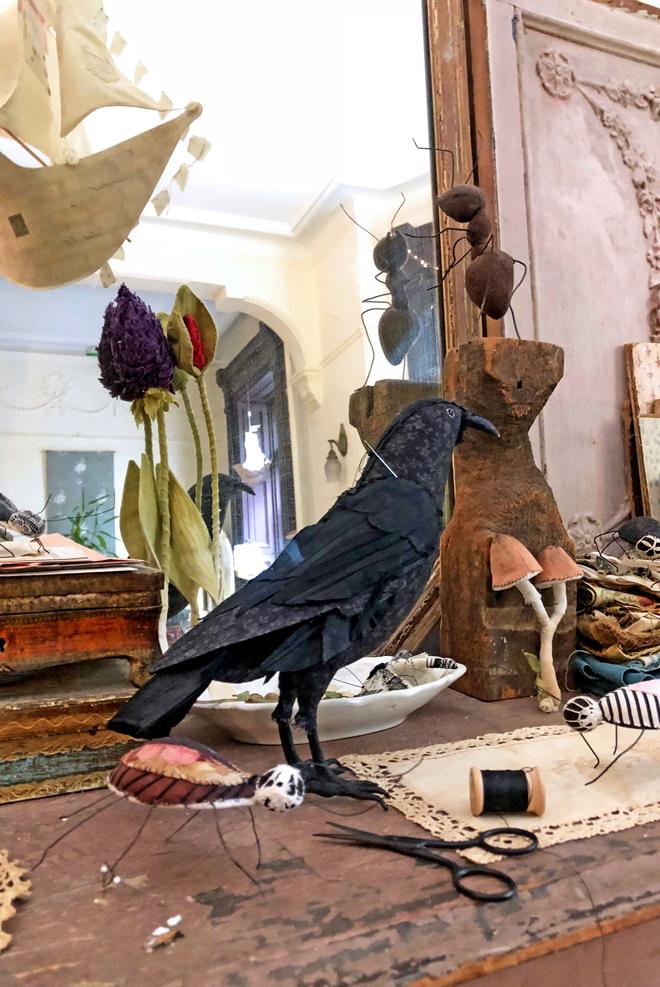 fabric crow