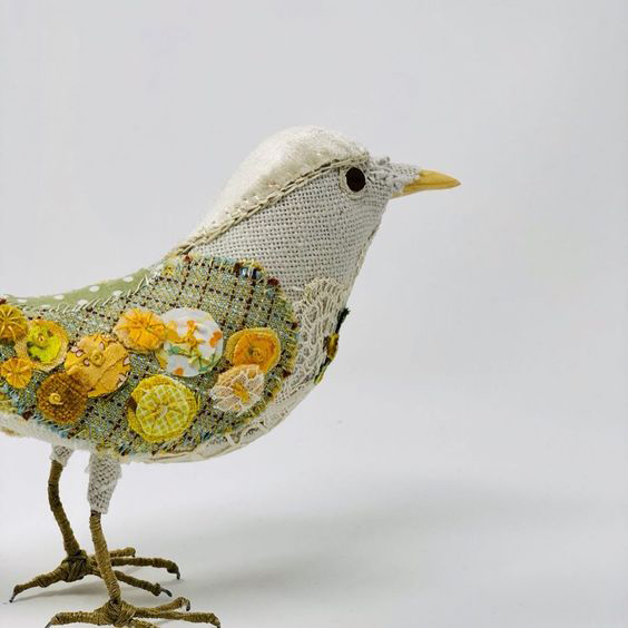 fabric bird sewing pattern