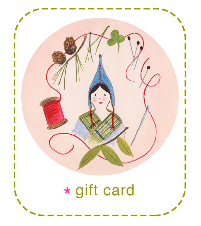 ann wood handmade gift card