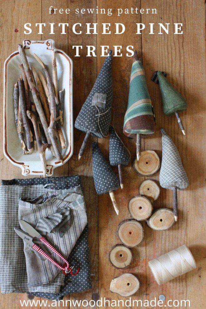 how to sew fabric trees
