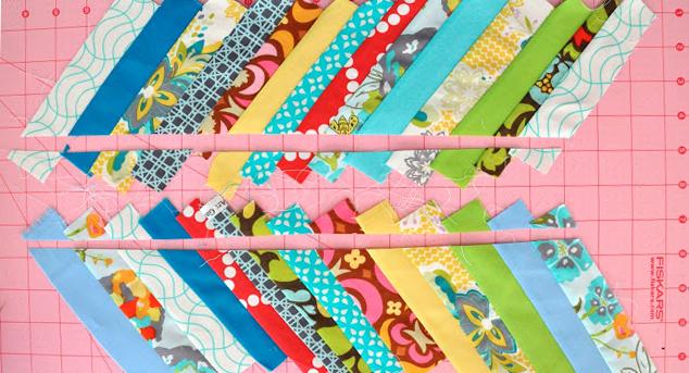 scrap fabric feather tutorial