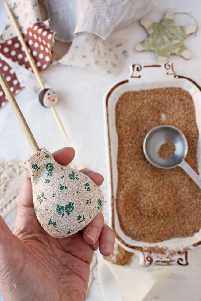 pin cushion - stuff with walnut shells