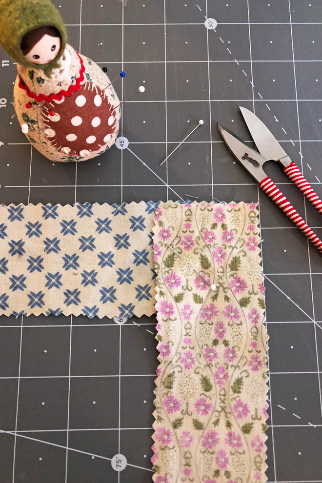 make edge binding form scraps
