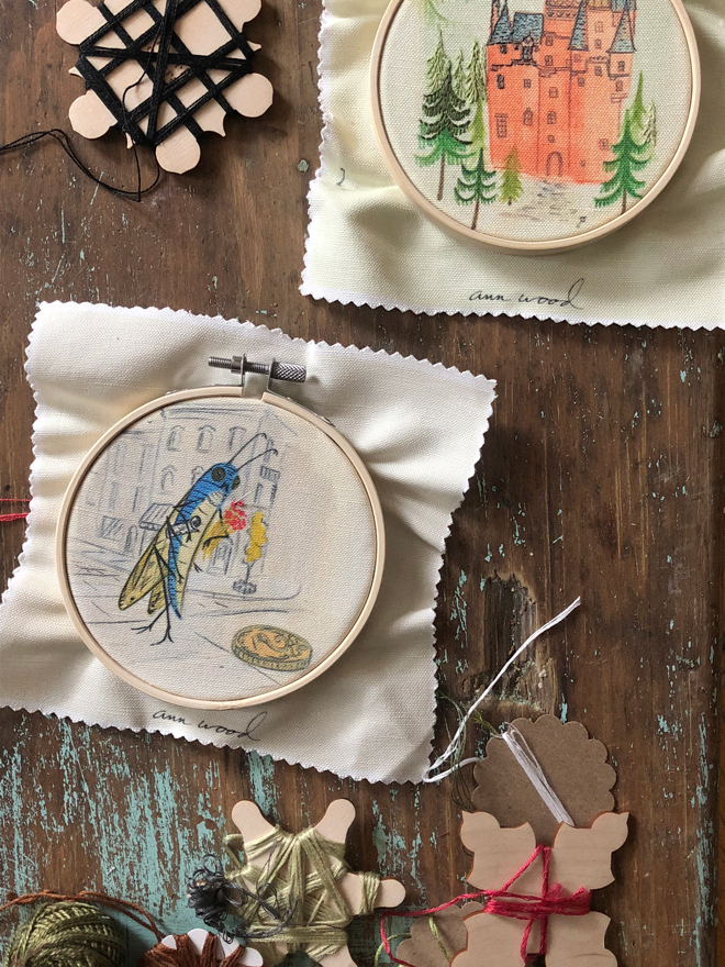 stitched painting samplers