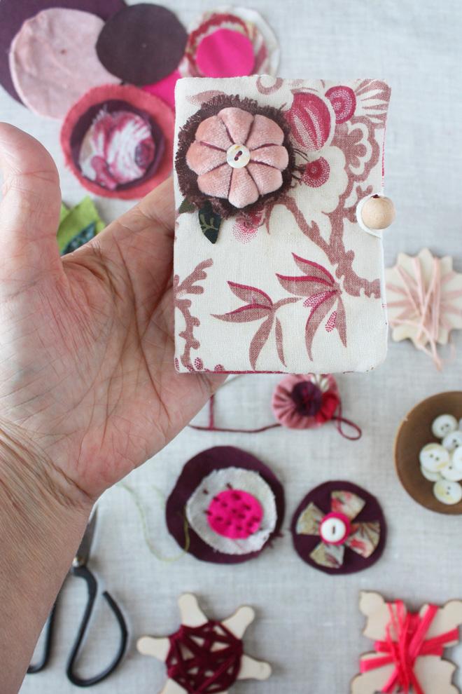 scrap flower pincushion tutorial