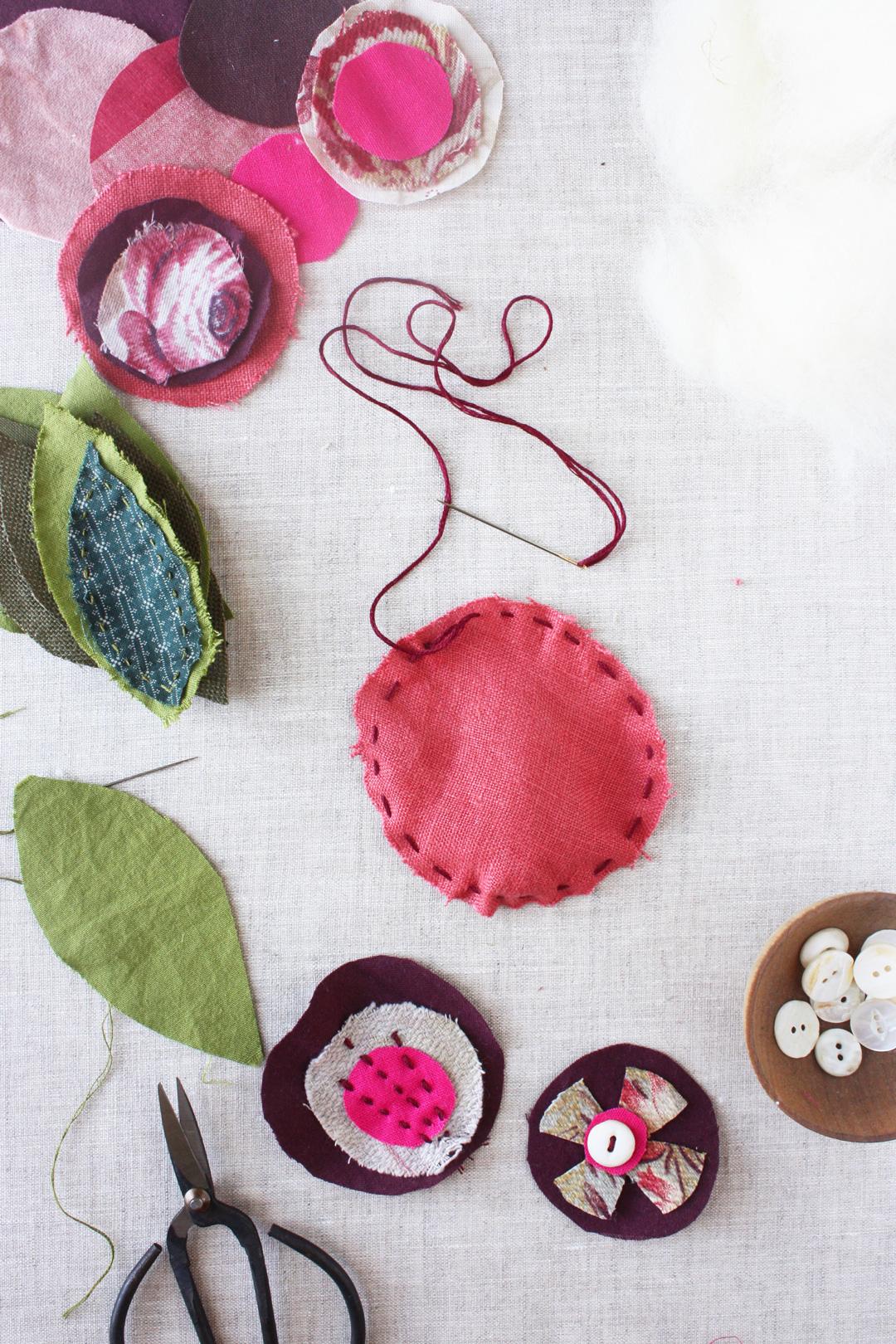 easy scrap flower tutorial