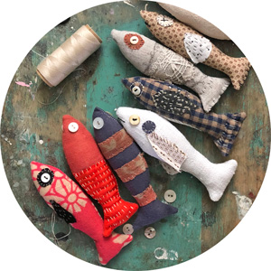 slow stitch fish free sewing pattern