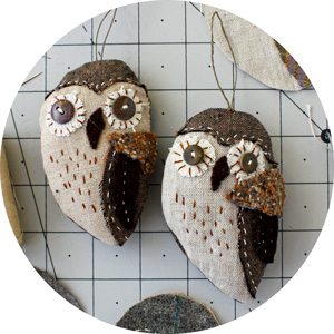 owl ornament diy sewing pattern