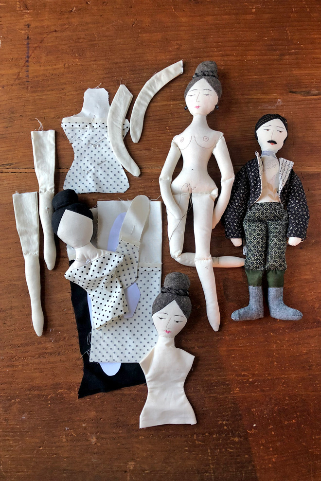 rag doll parts on my worktable