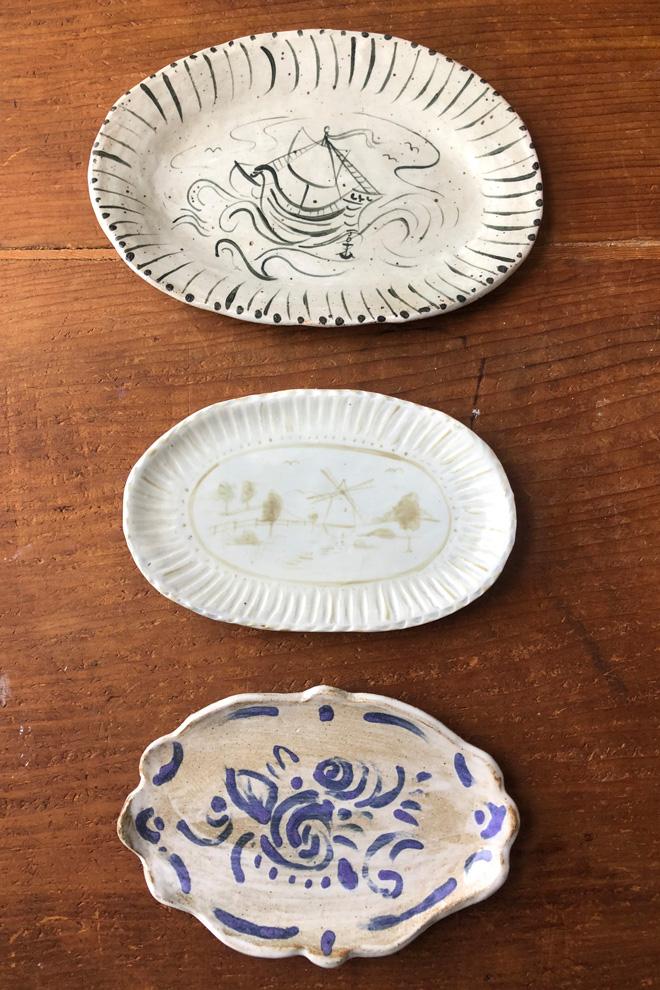 3 ceramic handmade plates