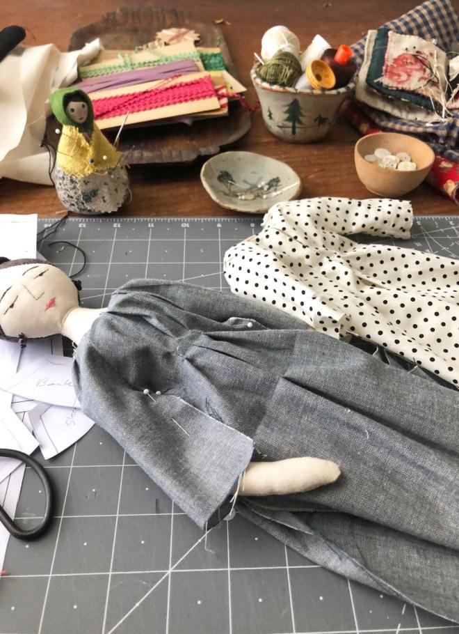 doll dresses in progress