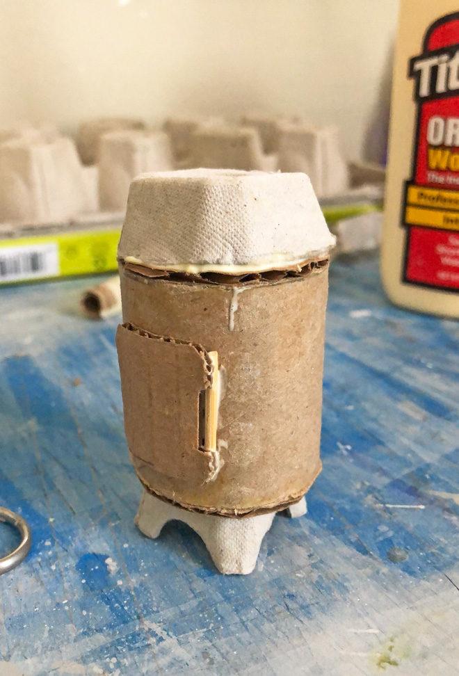 Adding a door and toothpick door hinge