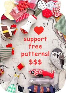 support the ann wood handmade free pattern library with a happy donation