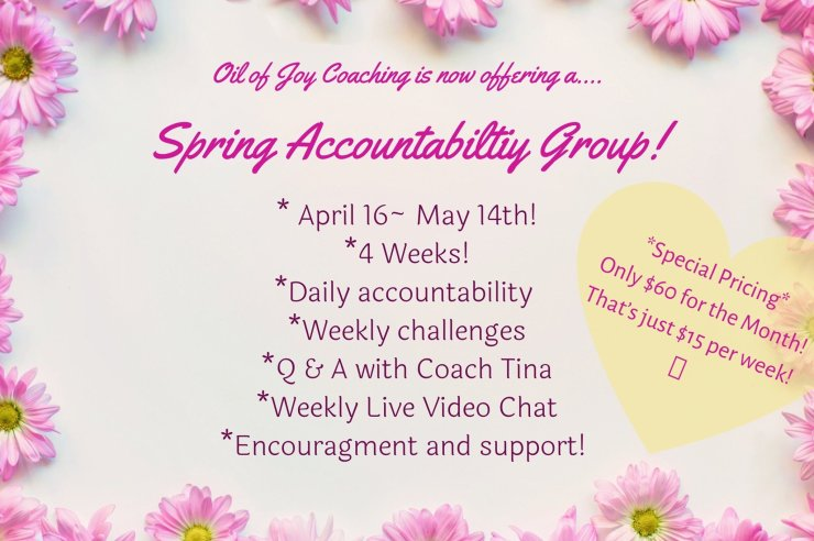I'm launching a coached accountability group in April! Join me!