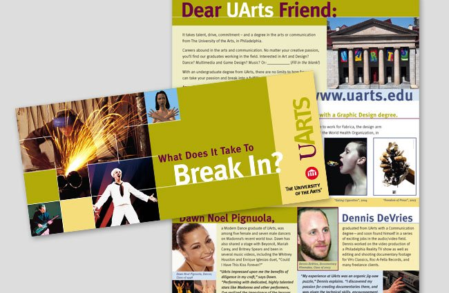 UArts Ads Direct Mailer