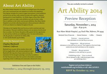 Art Ability 2014 Invite