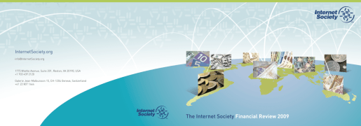 Internet Society Financial Annual 2009 cover