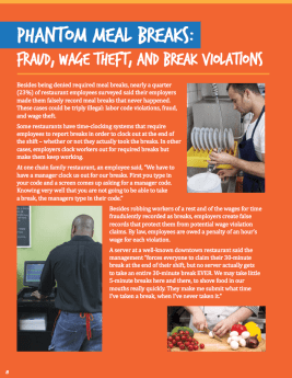 Shorted: Wage Theft Report 2015 - Meal Breaks