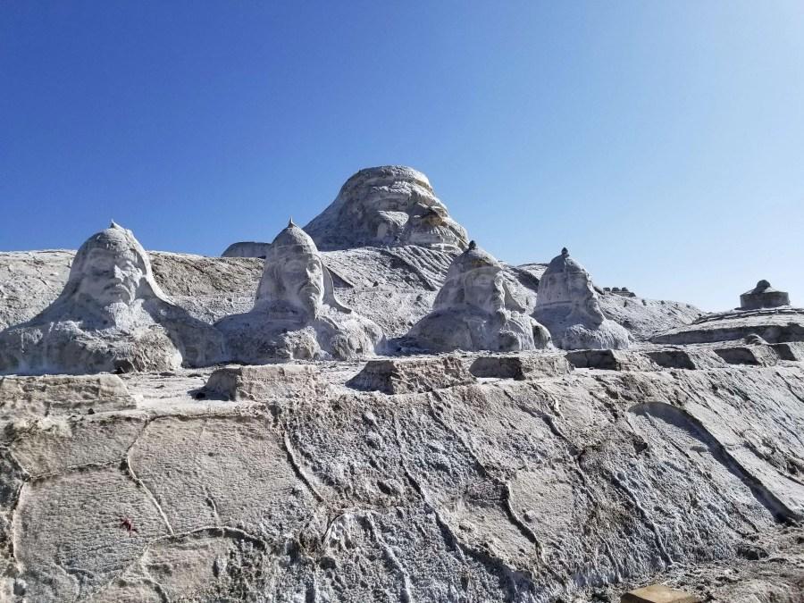 Chaka Salt Lake salt sculpture