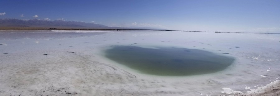 Chaka Salt Lake pond