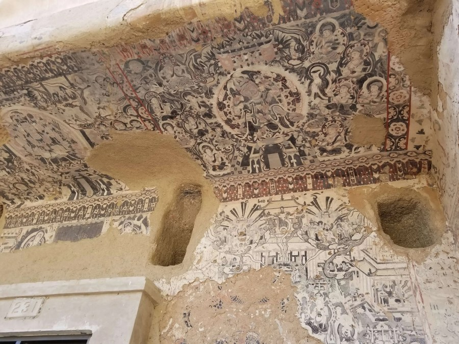 Mogao Caves exterior painting