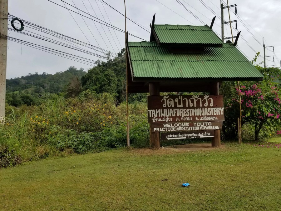 Tam Wua Forest Monastery sign