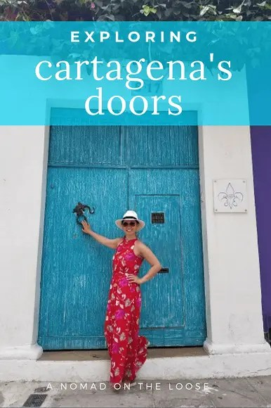 Cartagena's doors - stunning and colorful