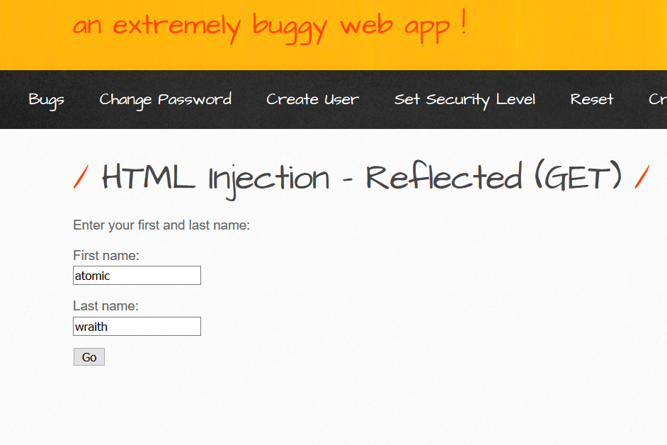 HTML Injection (GET Method) from Low to High Bypassing via encoding