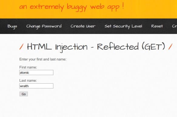 HTML Injection (GET Method) from Normal to Bypassing encoding